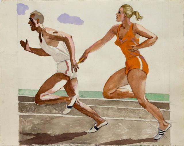 Дейнека А.А. Эскиз к картине «Эстафета». 1947 | Проект