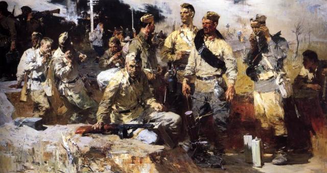 Моисеенко Е.Е. Ополченцы. 1959. ГРМ | Проект