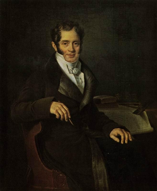 Митуар Б.-Ш. Портрет К.И.Росси. До 1812.  ГРМ