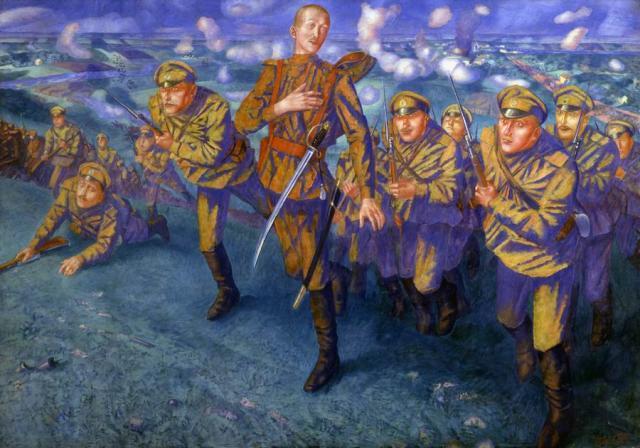 Петров-Водкин К.С. На линии огня. 1916. ГРМ | Проект
