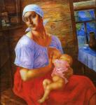 Petrov-Vodkin K. Mother. 1915
