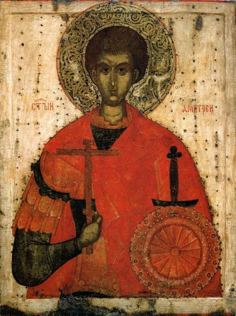 Образы святого георгия и святого дмитрия солунского