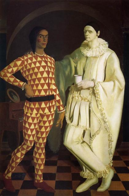 Шухаев В.И., Яковлев А.Е.  Автопортреты  (Арлекин и Пьеро). 1914.