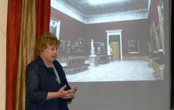 Заместитель директора Русского музея Н.М. Кулешова представляет программы из Медиатеки проекта
