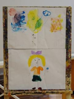 Смешивание цветов на занятии «В мастерской художника»