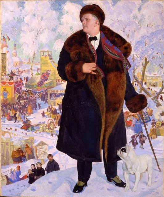 Кустодиев Б.М. Портрет Федора Шаляпина. 1922