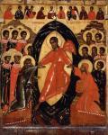 Сошествие во ад, с Деисусом и избранными святыми. Конец XIV - середина XV века