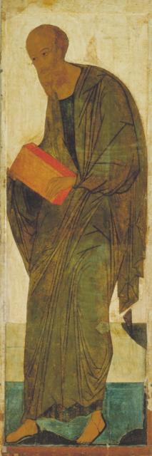 Андрей Рублев. Апостол Павел из деисусного чина в рост. Середина XIV века