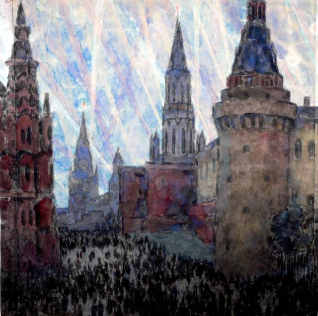 Бобышов М.П.  Москва салютует. 1945.  ГРМ