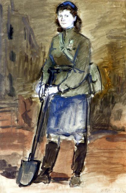 Рудаков К.И. Дружинница. 1943
