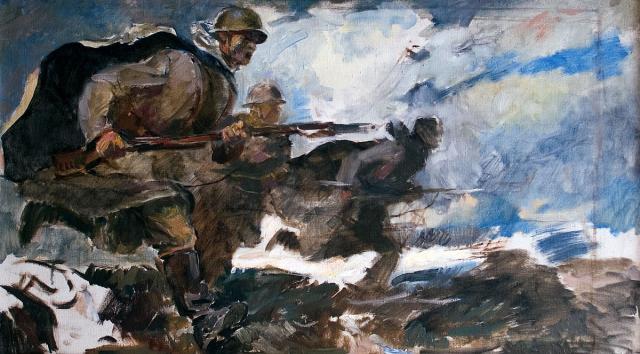 Серебряный И.А. Атака. 1942