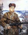 Серов В.А. Портрет командира партизанского отряда Д.И.Власова. 1942