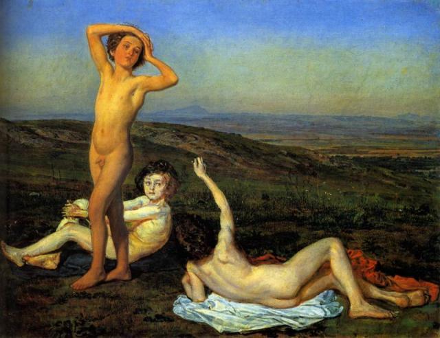 Иванов А.А. Три нагих мальчика. 1840–1850-е.