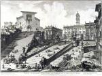 Джованни Батиста Пиранези. Вид римского Капитолия с лестницей, ведущей к церкви Арачели.