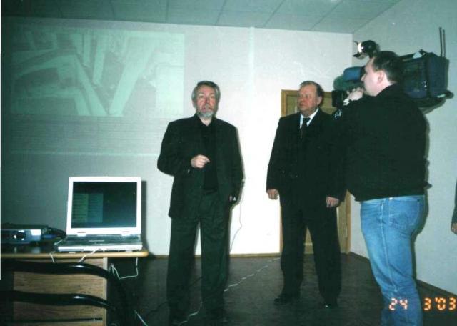 Директор ГРМ Гусев В.А. на открытии виртуального филиала ГРМ в г. Сосновый Бор